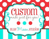 CUSTOM for CINDY: Carnival Wedding Banner Bunting, Birthday Flags, Party Decor, Circus - Photo Booth Prop, Vintage Theme, Retro