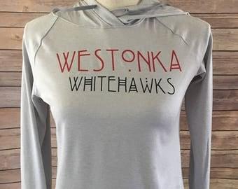Westonka Whitehawks hoodie, westonka spirit wear