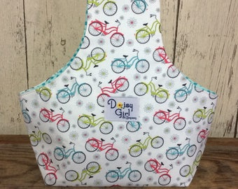 Knitting on the Go Wristlet, knitting bag, yarn holder bikes