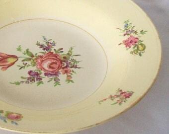 1945 Eggshell Nautilus Homer Laughlin Serving Bowl Vintage Vegetable Dish Priscilla Pattern 1940s China