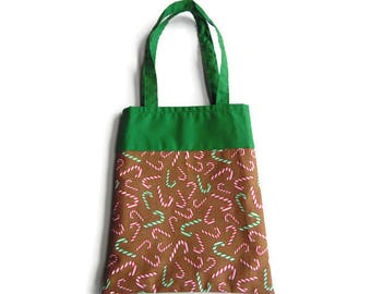 Candy Cane Gift Bag - Goodie Bag - Mini Tote