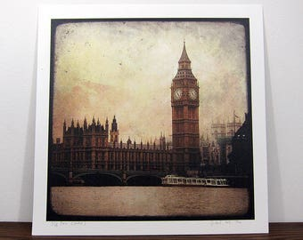 Big Ben - London - digital photo 30 x 30 cm - signed and numbered