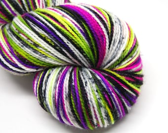 "Acoustic Sock Yarn - ""Xtra Creepy"" - Handpainted Superwash Merino - 400 Yards"