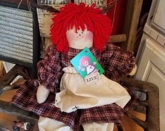 on sale primitive folk art rag doll