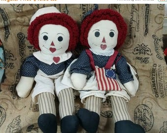 super sale americana Raggedy Ann and Andy Dolls