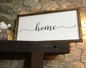 Home sign - Housewarming gift - Home sweet home - Home decor - Wood sign - Home sweet home sign - Rustic home decor - Farmhouse decor - Sign