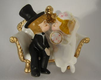 Vintage Wilton Wedding Cake Topper- New Vintage Item from the 1970s