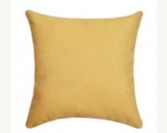 Yellow Outdoor Pillow, Sunbrella Canvas Buttercup Yellow Outdoor Pillow, Sunbrella Throw Pillow, Free Shipping, 5438-0000
