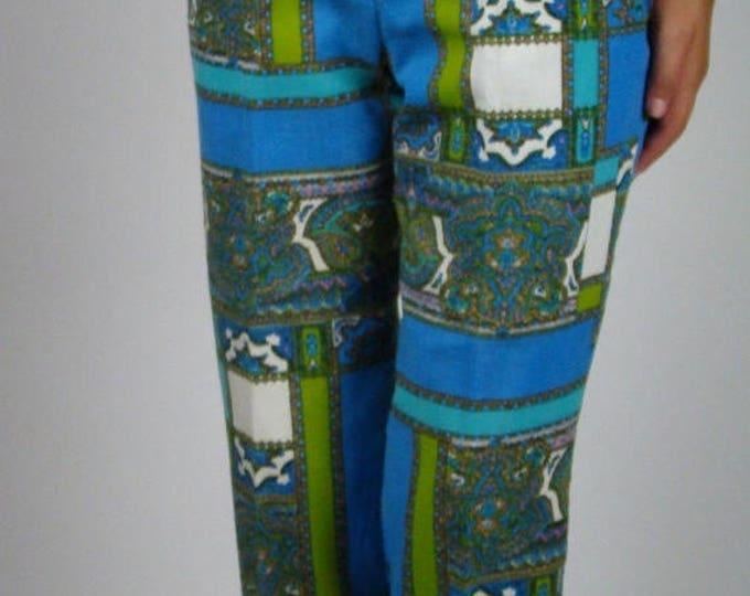 sale Peddle Pusher Pants, Capri Pants, Paisley Pants, Vintage Pants, 60s Pants, Hippie Pants,  Gidget Pants, 1960s Capri Pants, Beach Pants,