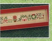 Lizzie Kate Snippet S110 - Merry String - Christmas Counted Cross Stitch Chart, Pattern