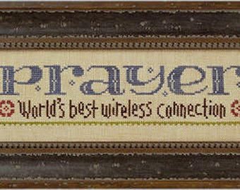 Lizzie Kate Snippet S91 - Prayer Connection - Inspirational Counted Cross Stitch Chart, Pattern