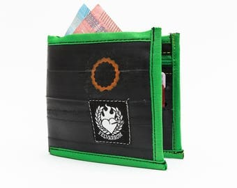 MENS BIKE WALLET Green bicycle purse for her, bikers wallet gift, cyclist bike purse, wallet bike biker, unique purse bicycle mens