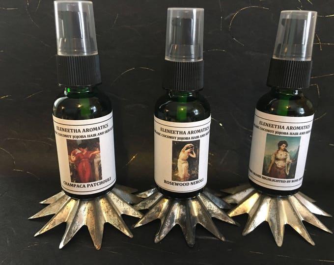 Organic Coconut Oil Jojoba Aromatic  Hair and Skin Elixir