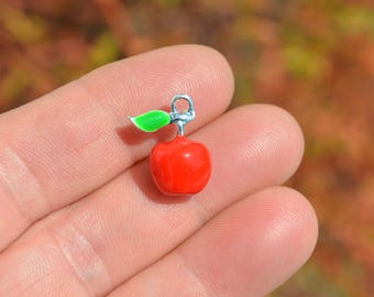 1  Red 3D Apple Charm SC2568