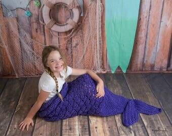 Adult Mermaid Tail Blanket, Child Mermaid Tail Blanket, Toddler Mermaid Tail Blanket