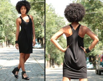 Little Black Dress, Plus Size Dress, Black Minimalist Dress, Party Dress, Casual Black Dress, Simple Dress, Everyday Dress, Sleeveless Dress