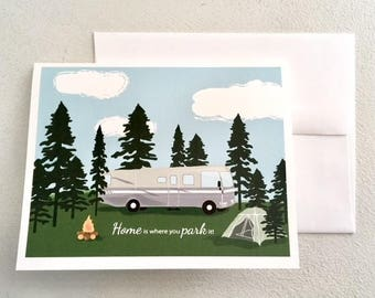Camper Card // Home is Where you Park It!