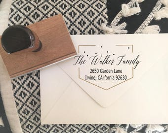 Calligraphy Return Address Stamp, Wedding Stamp,Christmas Stamp,Realtor Gift