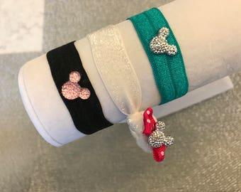 Disney Inspired Bracelet Mickey Mouse Bracelets Minnie Bracelets Flower Girl Disney Trip Tinker Bell Gift