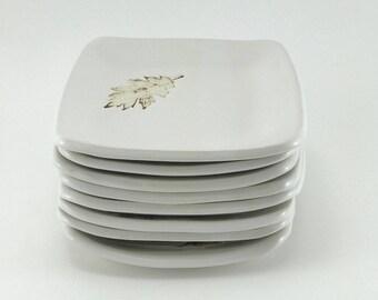 Ceramic plates, pottery plates, snack plates, appetizer plates, white pottery