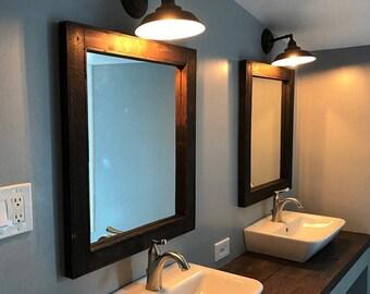 Double Sink Bathroom Mirror Set
