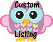 Custom Listing for Rebecca Hammonds
