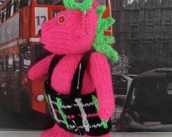 40% OFF SALE Instant Digital File pdf download knitting pattern-Punk Rocker Teddy Bear Toy knitting pattern pdf download by madmonkeyknits