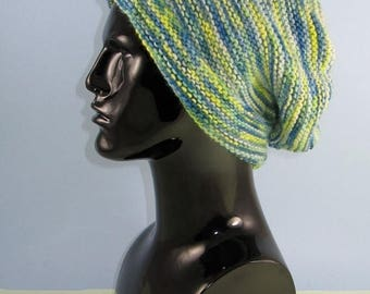 40% OFF SALE Instant Digital File pdf download knitting pattern - Chunky Self Striping garter Stitch Slouch  pdf download knitting pattern