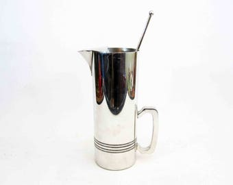 Vintage Bar / Cocktail Pitcher by Boardman Colonial Pewter. Circa 1930's.