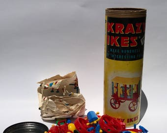 Vintage Toy Krazy Ikes Building Toy by Whitman 1961