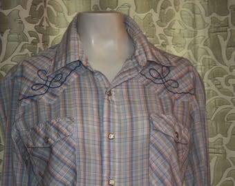 Vintage 70's Hoot-Spah Ladies Western Shirt M