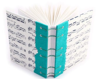 Music Journal - handmade by Ruth Bleakley - Purple and Green Available