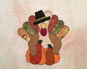 November Turkey Appliqued Quilt Block