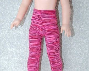 Spring Sale Leggings handmade for 14.5 inch Wellie Wishers tkct1218 mauve-pink stripes READY TO SHIP