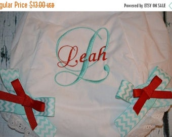 ON SALE Monogrammed Baby Bloomers, Personalized Script Girls Bloomers with Bows