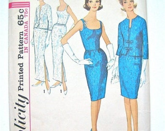 ON SALE Vintage 1960's Simplicity  5658 Wiggle Dress Pattern  Bust 34 inches