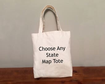 Any State Map Tote Bag