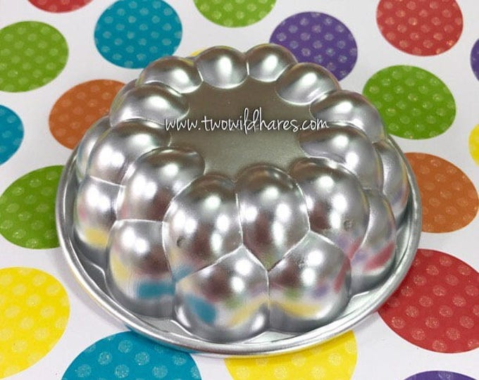 "TROUBLE WITH BUBBLES Bath Bomb Mold, Metal, 3.75""x1.25"""