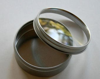 25% Off Summer Sale Round Window Tins - set of 250 - Clear Top - Perfect for Wedding Favors, Spices and Retail Packaging
