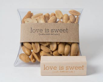 Brown Kraft Bands - For Use with Clear Pillow Boxes - Perfect for Nut Favors