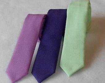 SALE Violet, Mint, or Purple Skinny Tie - Infant, Toddler, Boy 2 weeks before shipping