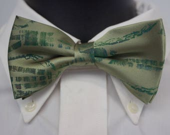 Olive Branches Bow Tie
