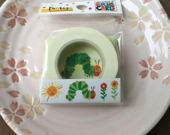 Very Hungry Caterpillar Tape with Flowers - OFFICIAL GOODS Funtape Masking Tape 15mm x 15m