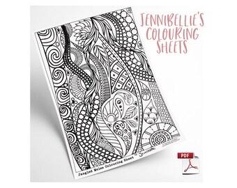 Jangled Melee Digital Colouring Sheet by Jennibellie