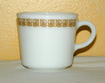 Tiburon Pyrex Restaurant ware Cups, SET of 2 Different Styles of Mugs or Cups, Matches Well with Pyrex Gold Butterfly