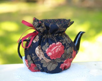 Red Rose Tea Cozy, ready made