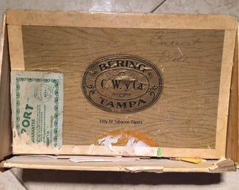 Vintage Antique Cigar box filled with Stamps from 1950s 1960s Hundreds to go through Estate Sale Great for the stamp collector