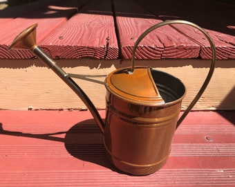 Small Douro copper watering can made in Portugal