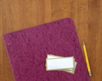 1990's 3 ring binder burgundy purple back to school vintage 1""