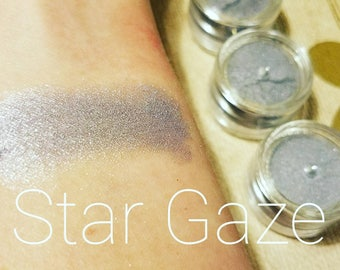 STAR GAZE Mineral Make up EYE Shimmer - Eye Shadow, Gift for her, Mica Powder 5ml - Silver Purple Shimmer for Eyes and Face -  cruelty free